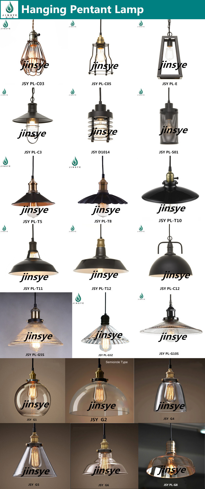 Retro Industrial hanging pendant light decoration Glass lamp