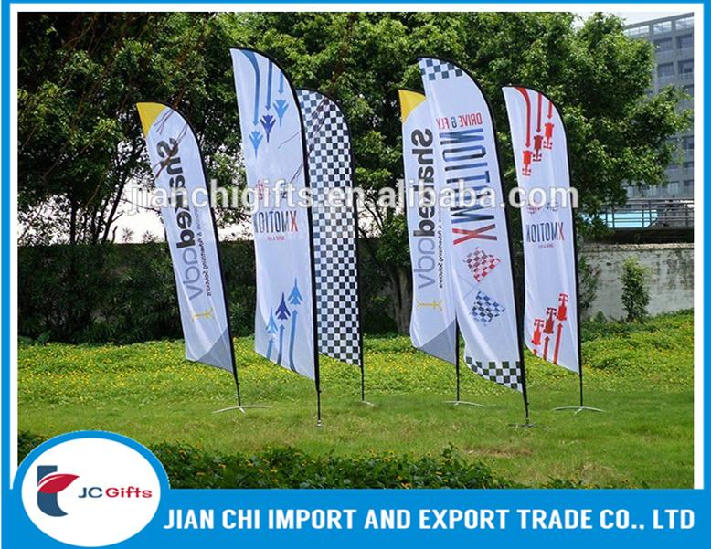 Hot selling advertising beach flag teardrop flag feather banner display roadside for promotion teardrop beach flag