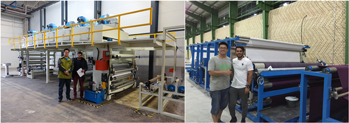 Automatic film laminating machine for sofa materials