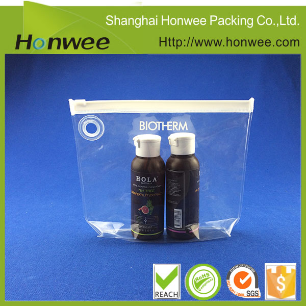 Stand Up Pouch Transparent Plastic Packaging PVC Vinyl Bag Clear PVC Zipper Bag