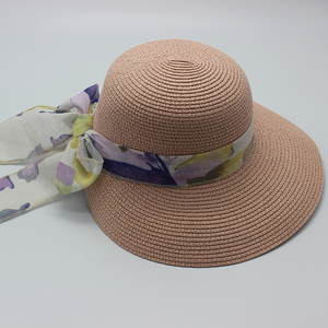 Cheap Summer Fashion Women Lady bucket Straw Hats with Bowknot for Beach Travel Gifts