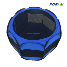 Portable Foldable Playpen Exercise Kennel Dogs Cats Indoor/outdoor Removable Mesh Shade Cover