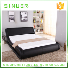 French brand wooden super king size leather bed frame for sale
