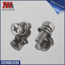 Stock Stainless Steel Cross recessed security screw pan head set screw