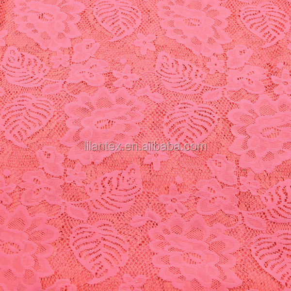 Jacquard knitting thick needle coarse fabric 100%T polyester coarse needle fabric women rose jacquard hollow knitted fabric