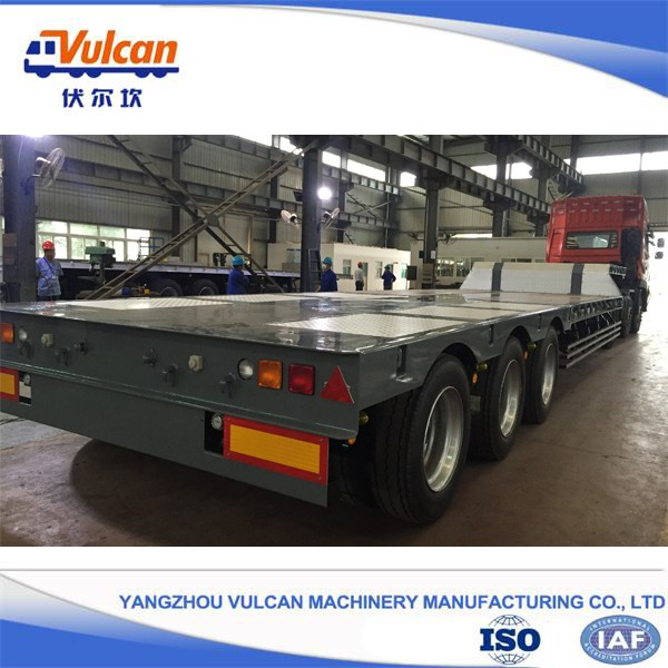 China factory 3 axle steel flatbed semi trailer for sale