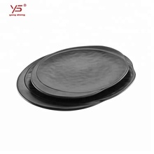 2018 fashionable design frosted pizza dishes plastic dishware round <strong>flat</strong> frosted plastic plate