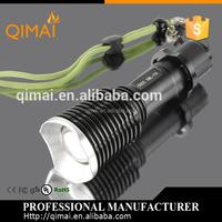 High power XML-T6 led rechargeable handheld flashlights / hid xenon flashlight