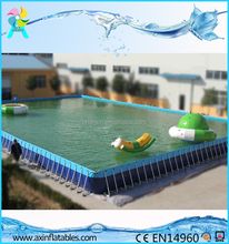 Customized PVC steel rectangular intex ultra metal frame pool