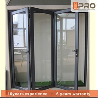 2015 fashion doors Z70 folding door with aluminium door frame price
