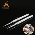 The most popular color painting round pen with blue and white porcelain pen holder the best manicure gift for lady