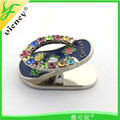 Hot selling souvenir gifts cute clip slipper fridge magnet for beautiful gift