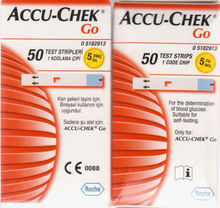 ROCHE ACCUHEK GO BLOOD GLUCOSE STRIPS