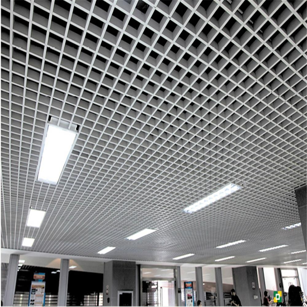 Aluminum square tube ceiling grid aluminium grids for Suspension decorative