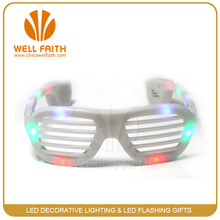 Colorful glow in dark shutter shades sunglasses for business gift