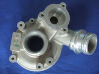 aluminum casting resin sand casting water pump body for auto engine