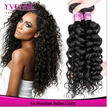 2017 italian curly hair brazilian human hair weaves for