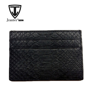 Custom Genuine Python Snakeskin Leather Rfid Credit Card Holder Wholesale