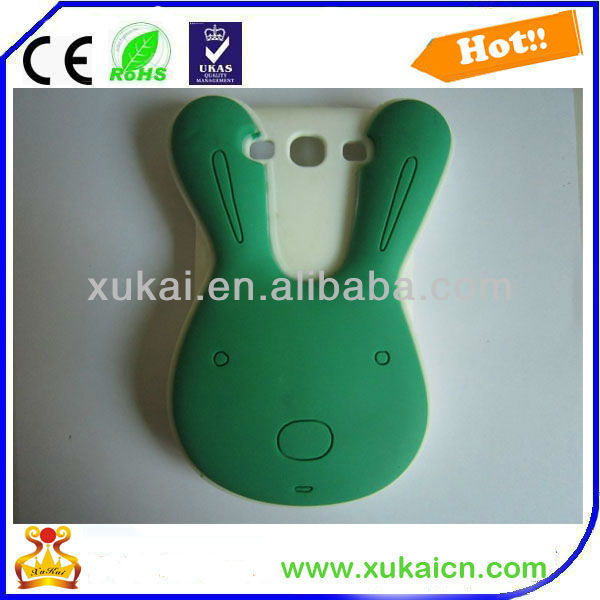 Rabbit shape s3 silicone cellphone cover/case