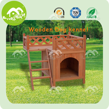 Exquisite wooden dog house with balcony, dog house factory
