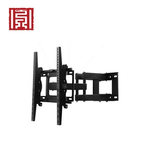 Slim retractable folding extended flip out flat panel tv wall mount
