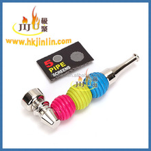 JL-438 Smoking Pipes Large Diameter Aluminum Pipe Make Metal Material Arabic Smoking Pipe