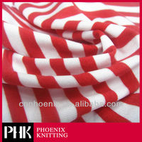 RED WHITE PINSTRIPE KNITTING FABRIC