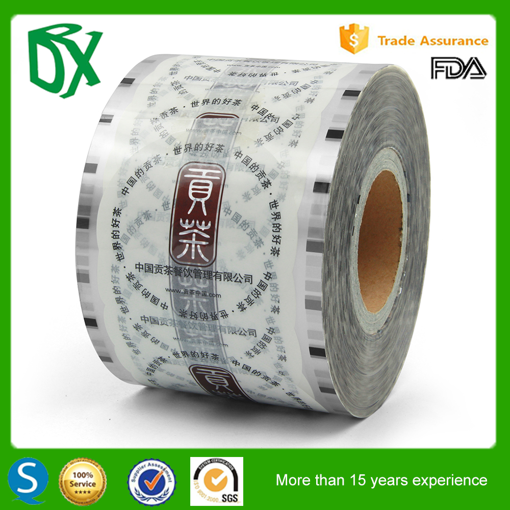 Best quality preformed roll plastic cup lidding sealing film for dairy products