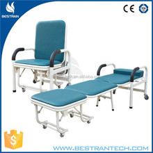 BT-CN001 CE approved hospital ward furniture chair, cheap caregivers sleeping bed for sale
