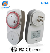 America Electrical Plug Socket PC Fire Retardant US Automatic Timer Switch
