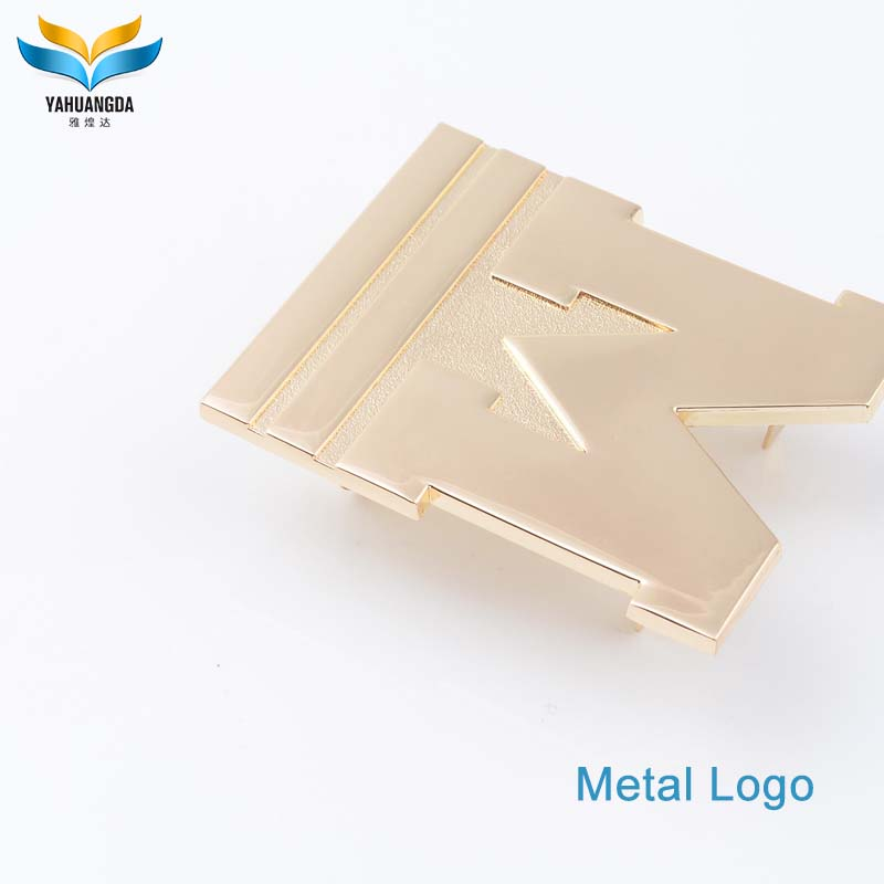 bag decorative gold metal purse hardware accessory plates brand logos for handbags