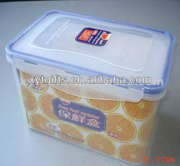 clear plastic storage box with locks
