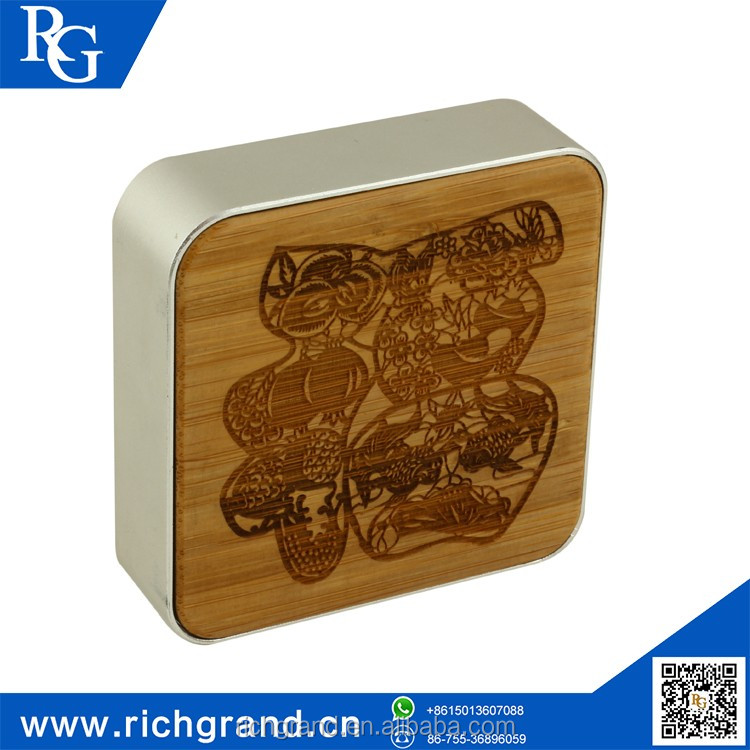 Hot sale bamboo wood smart power bank