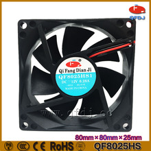 24V 12V CPU cooling fan price 80*80*25mm,48v low noise heat exchanger fan,5v usb powered cooling fan