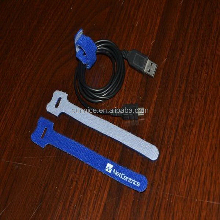 Top grade hot selling usb data line hook and loop tie