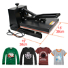 "New 15"" X 15"" COMBO HEAT PRESS T-SHIRT Dual Digital TRANSFER SUBLIMATION MACHINE"