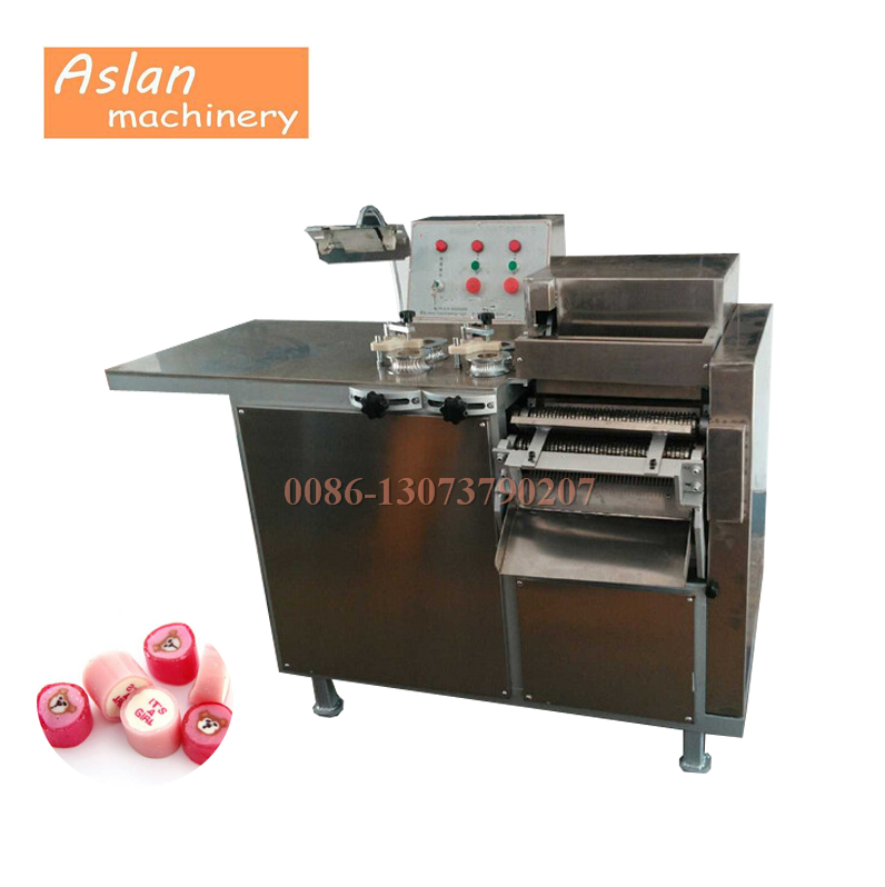 commercial fruit candy slicer cutter/flat lollipop cutting machine/lollipop candy making machine