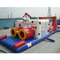 China factory wholesale cutie dog cartoon inflatable obstacle
