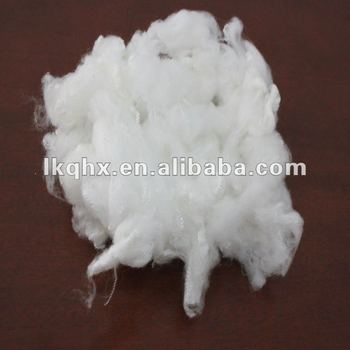 acrylic staple fiber raw white 3D