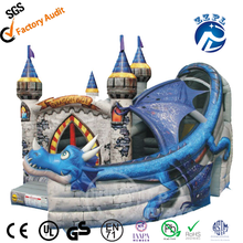 Giant China inflatable dragon bounce house