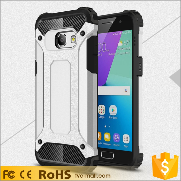 Heavy Duty Rugged Combo Cell Phone Case (Plastic + TPU) for Samsung Galaxy A3 (2017)