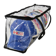 baseball hat and cap storage bag large clothing storage bags plastic clear pvc zippered storage bag