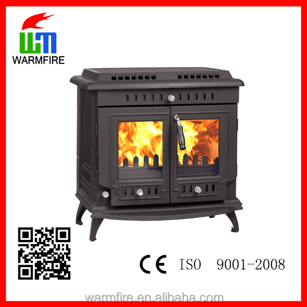 China manufacture german indoor wood burning stove with water boiler