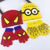 China Wholesale Knitted Cosplay Costume Cap Hat Glove Minions Spider-Man TC016