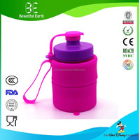 China Factory Direct Sale Silicone Sports Water Bottle Portable for outdoors