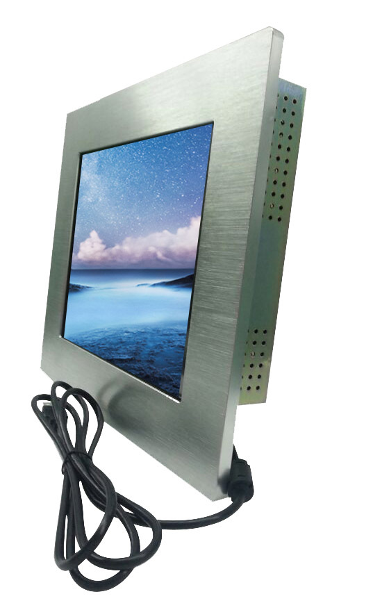 "7"" lcd touch monitor with aluminum bezel in front"