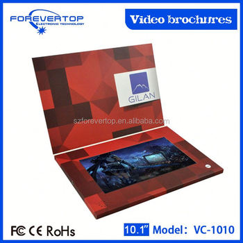 Factory lowest price 10 inch autodyne video with camera video brochure