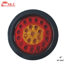4 inch dual color led stop / tail / turn semi truck light