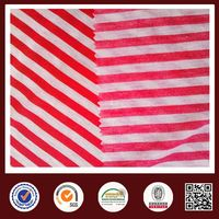 Feimei red white striped fabric 100%polyester striped fabric