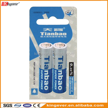 Zinc manganese battery UM3 R6P AA battery